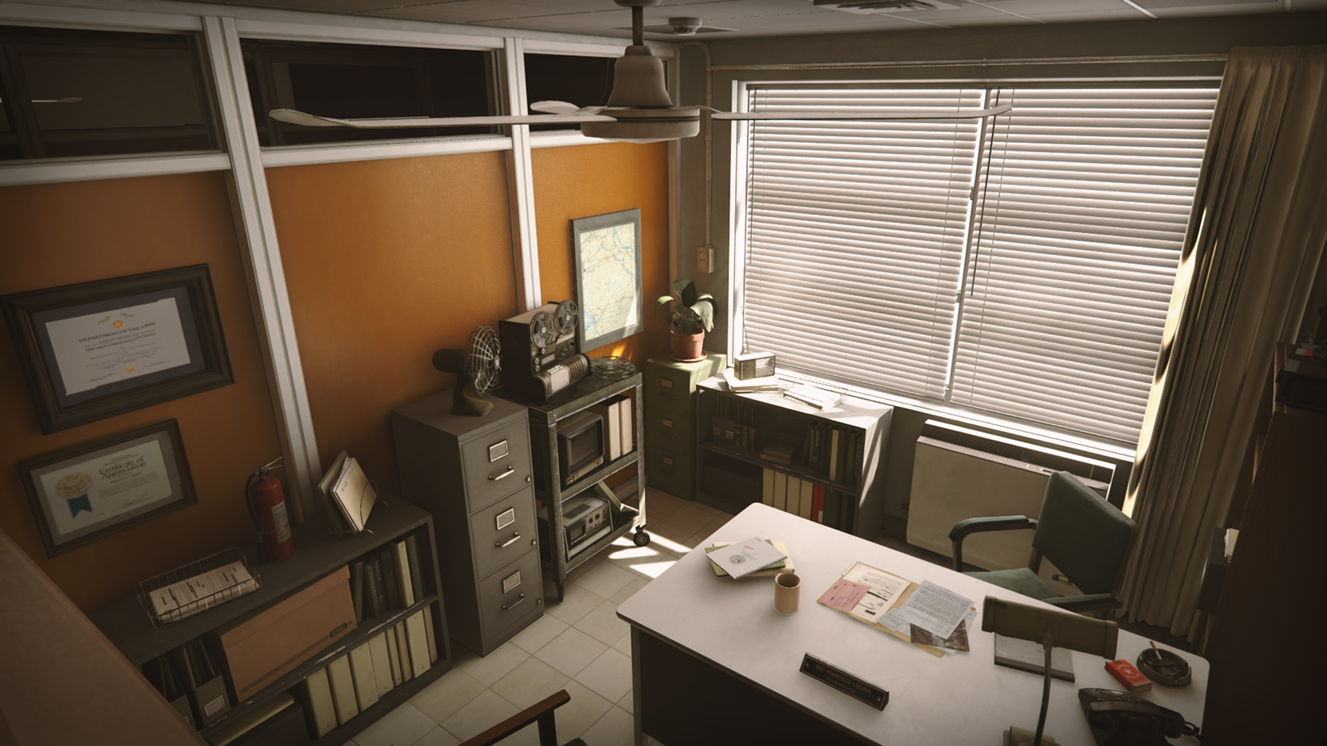 Merveilleux Retro Office Environment By Dekogon Studios In Environments   UE4  Marketplace