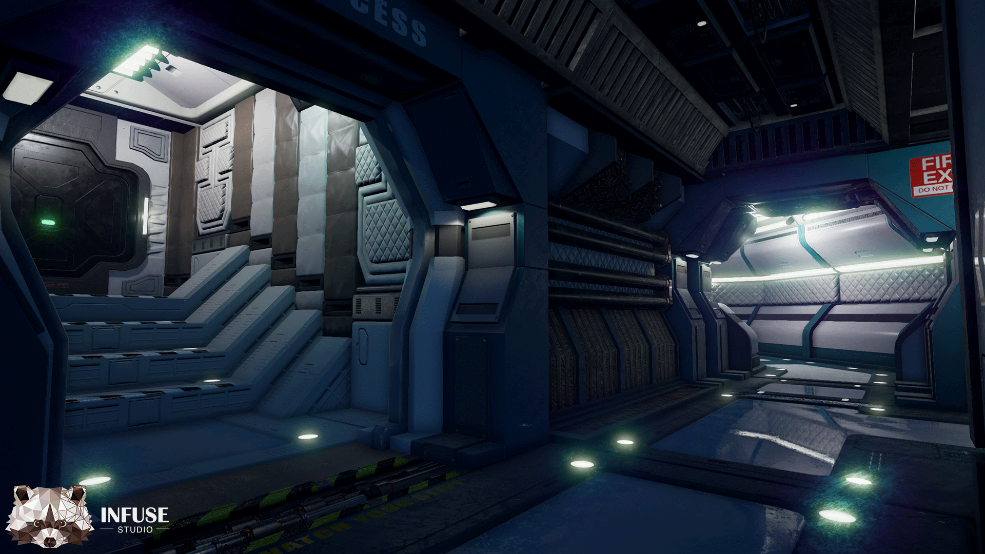 Retro Space Station By Infuse Studio In Environments Ue4