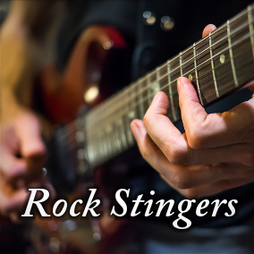 A collection of 32 short stingers / clips in rock style.