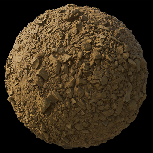 Set of 16 4k scan-based PBR tileable ground textures.