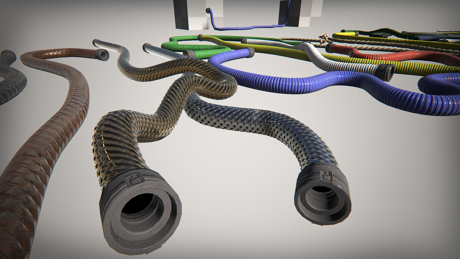 spline ropes hoses sci fi by purepolygons in blueprints ue share