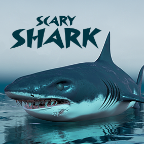 Scary shark mesh, rigged and ragdoll ready. Includes cage dive scene, character and waypoint blueprints.