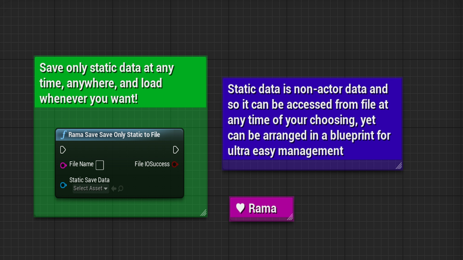 Rama save system by rama in code plugins ue4 marketplace malvernweather Images