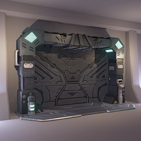Four low-poly optimized sci-fi doors.