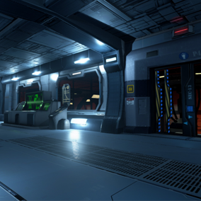 SciFi Chambers Environment Set is a combined package of a number of Sci Fi themed textured props.