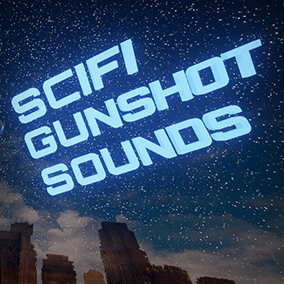 5 unique SciFi gunshot sounds with 3 iterations for randomizing and basic ambient loop and 6 footsteps sounds.
