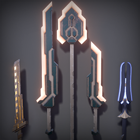 This pack features 15 melee scifi weapons and each weapon is easily customized to fit your style.
