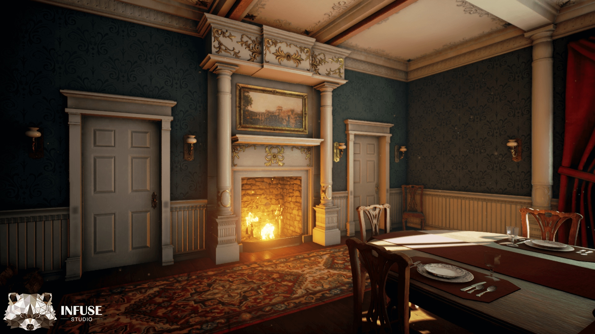 Victorian Dining Room In Environments, Victorian Dining Room