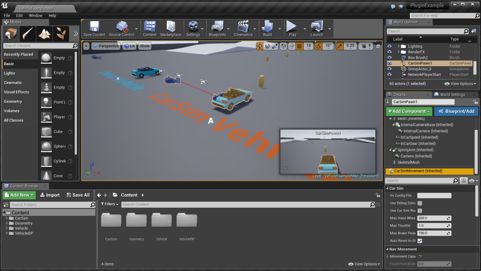 VehicleSim Dynamics by Mechanical Simulation in Code Plugins - UE4