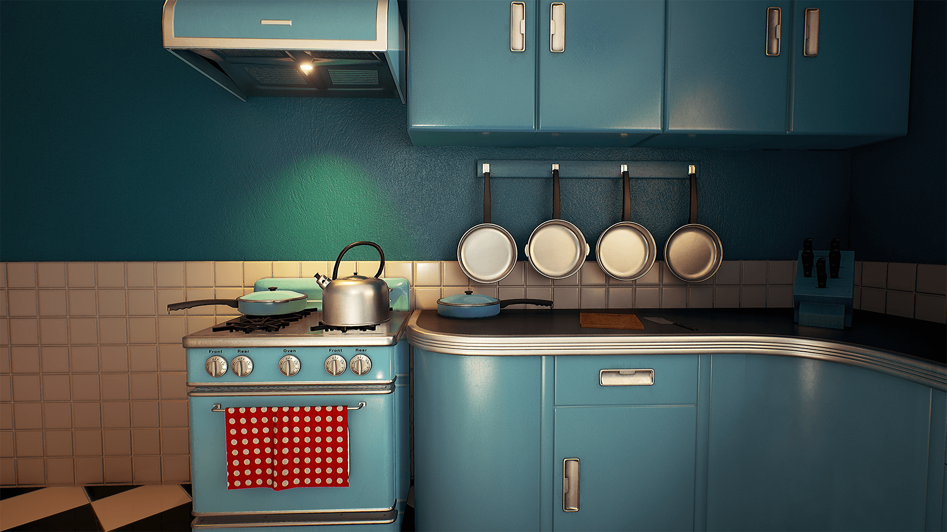 Customizable retro kitchen by nguyen cong thai in environments ue4 marketplace - Vintage kitchen ...