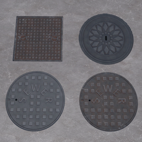 30 Sewers HQ Textures (2K resolution) with high level of details.