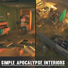 Synty Studios Presents - Simple Apocalypse Interiors. An apocalyptic themed asset pack.