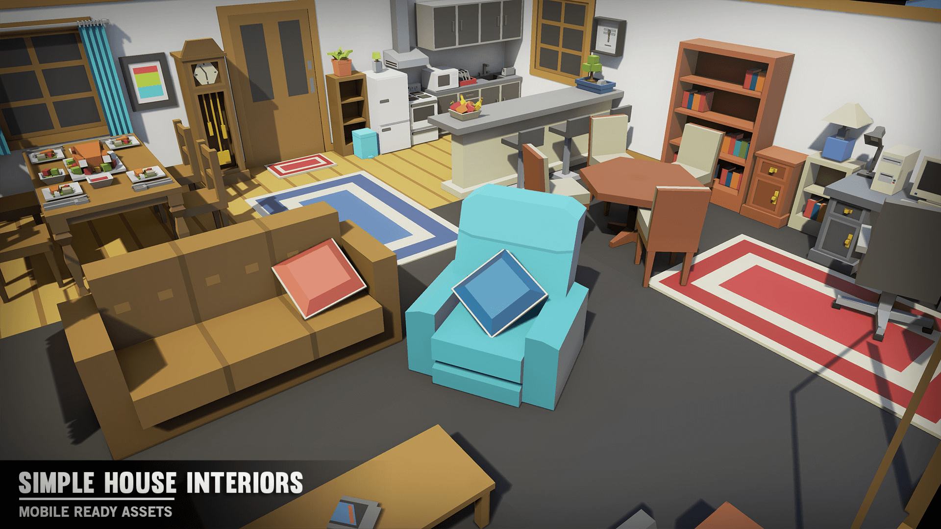 Simple House Interiors by Synty Studios in Environments - UE4 ...