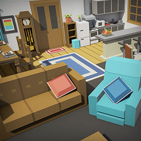 A simple asset pack of house interior assets to add to the existing simple assets.