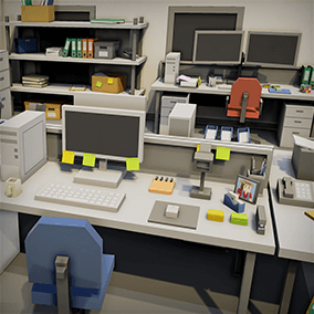 A simple asset pack of office interior assets to add to the existing simple assets.