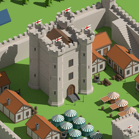 SimplePoly Medieval is a collection of low poly assets perfect for creating medieval environments and natural landscapes.