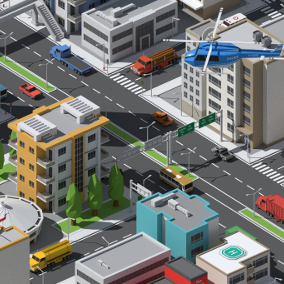 SimplePoly Urban is a massive pack of low poly assets perfect for creating modern city environments and natural landscapes.