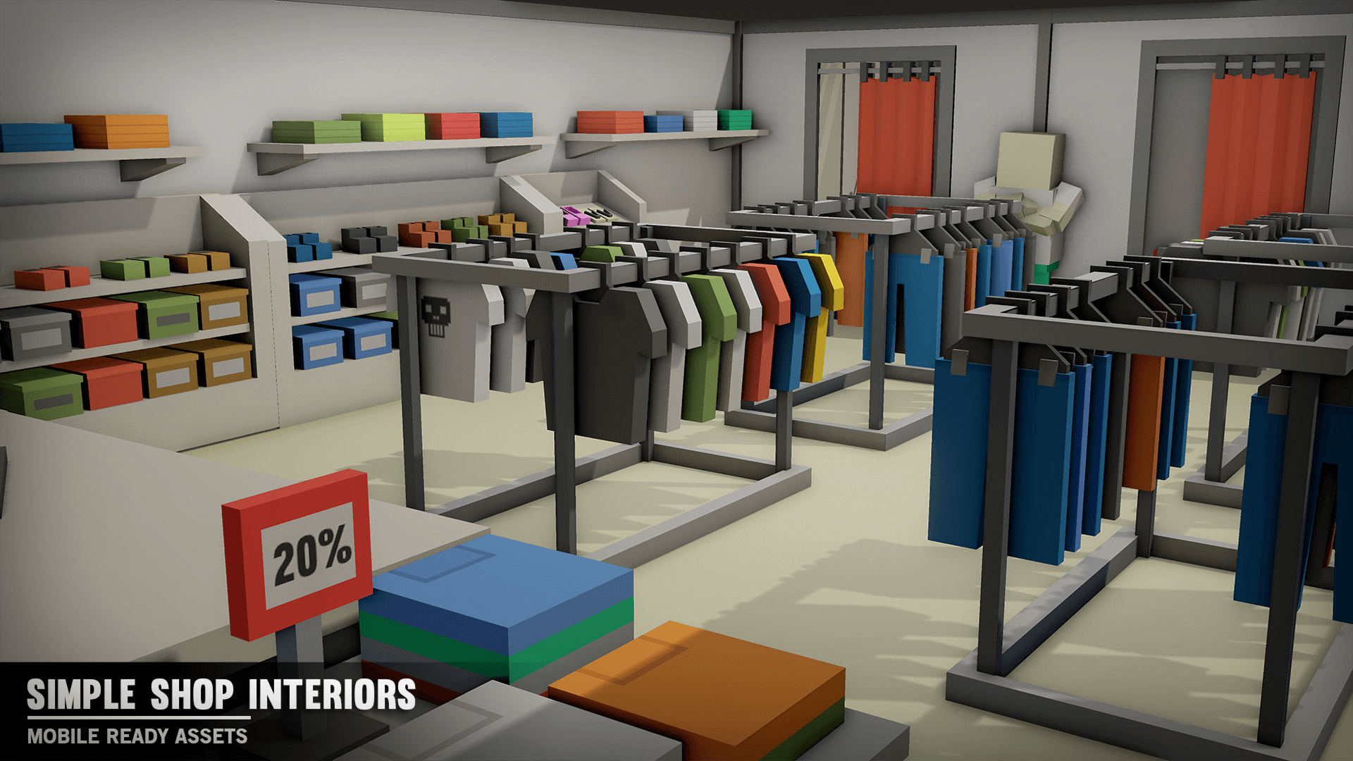 Simple Shop Interiors By Synty Studios In Environments Ue4 Marketplace