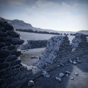 This kit allows you to easily populate your world with organic detailed walls.