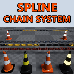 Spline Chain System is a system that procedurally produces chains and traffic cones and a variety of other assets like fences, rails, etc.