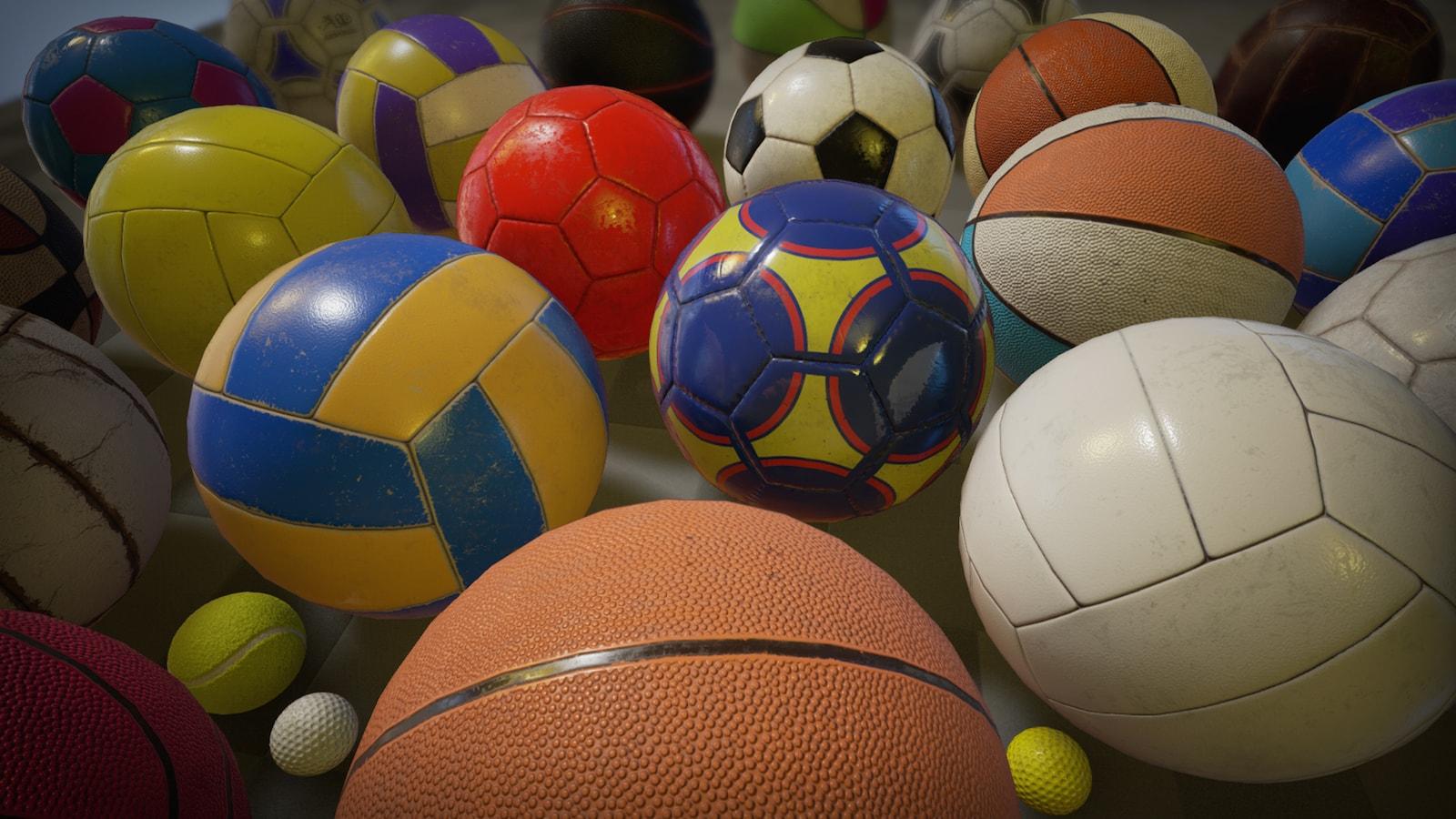 Pbr Sport Balls Pack In Props Ue Marketplace