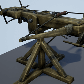 5 game ready Animated Siege Weapons including not animated version and broken versions.