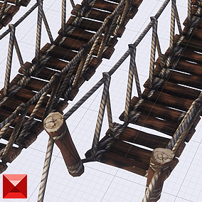 A set of rope bridges for level design. A few different sizes as well as building blocks to build your own!