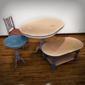 A collection of customizable tables and chairs made to fit a variety of environments.