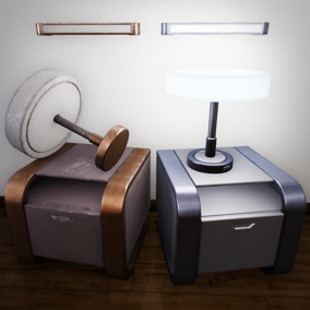 A collection of customizable furniture made to fit a variety of hi-tech and scifi environments.