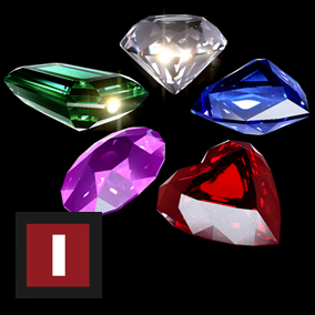 A collection of cardinal crystals such as Diamonds, Amethysts, Emeralds, Sapphires and Rubies.
