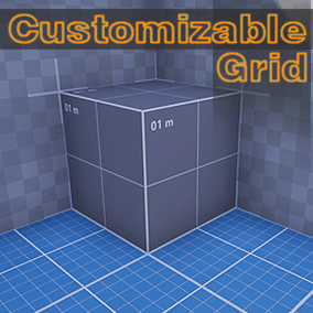 Customizable Grid is a highly customizable material designed to do fast grids materials.