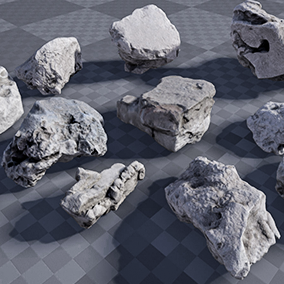 This Debris Pack is quick and easy way to decorate your project used photo-realistic concrete debris, concrete blocks, broken bricks.