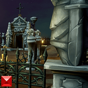Looking for a cozy place to house your army of the undead? Try this hand painted, low poly cemetery level set.