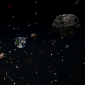 Procedurally spawn floating objects within a region, with many customization options.