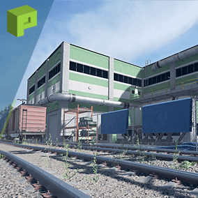 Factory District is a high quality environment pack with over 250 assets to create your own warehouse and train area level.