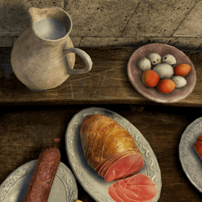 40 Game ready food props and sets for any game kind.