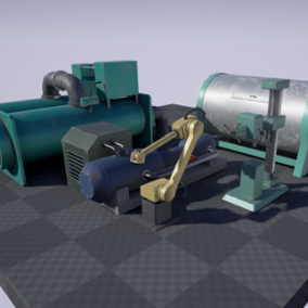 Pack of five machine models for your industrial environment.