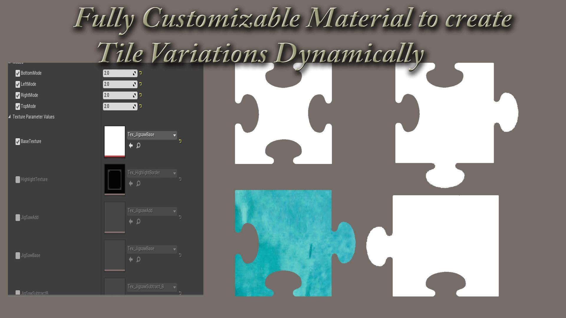jigsaw puzzle template by sameek kundu in blueprints ue4 marketplace