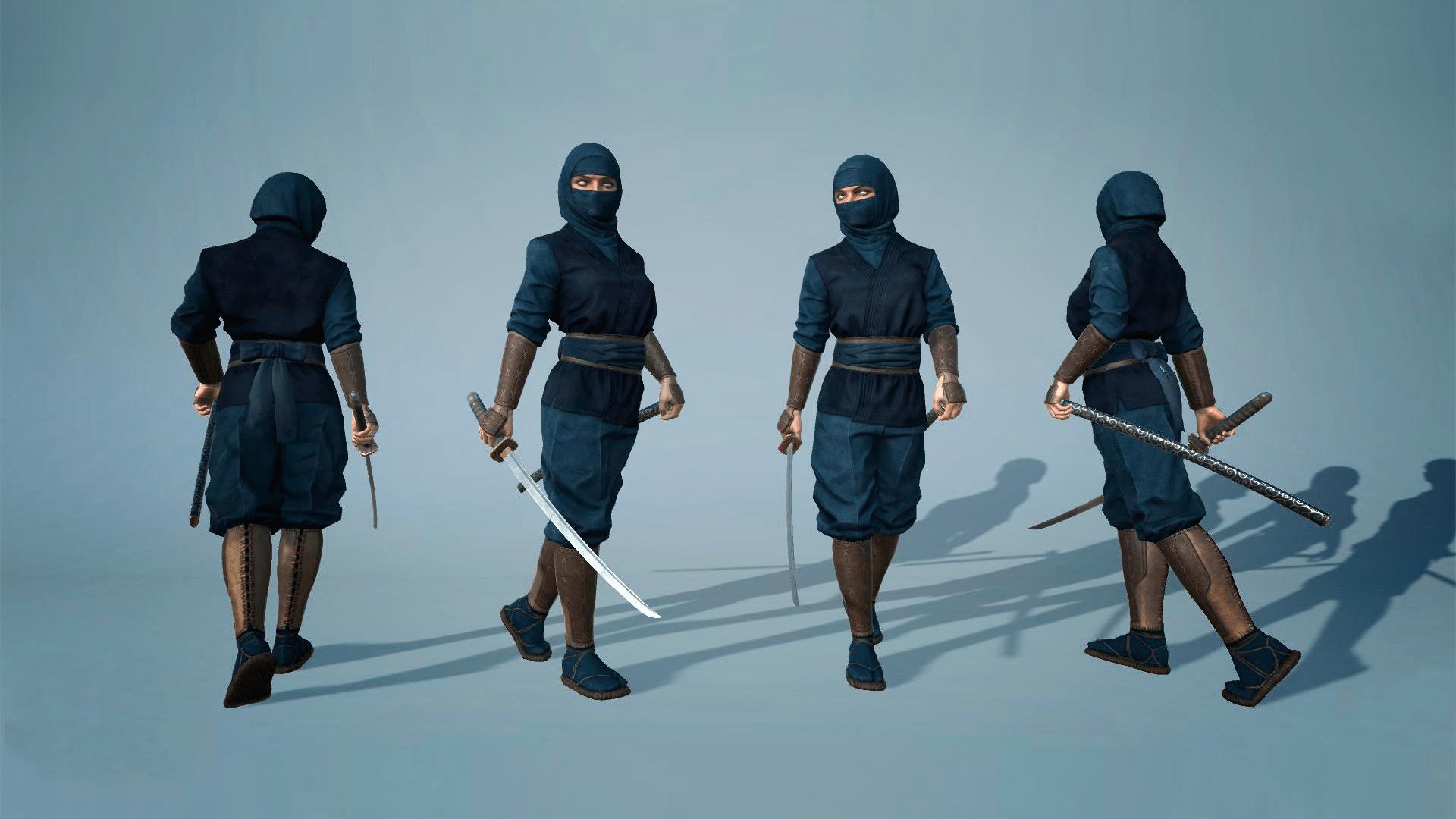 Kunoichi (Female Ninja) by Hideout Studio in Characters