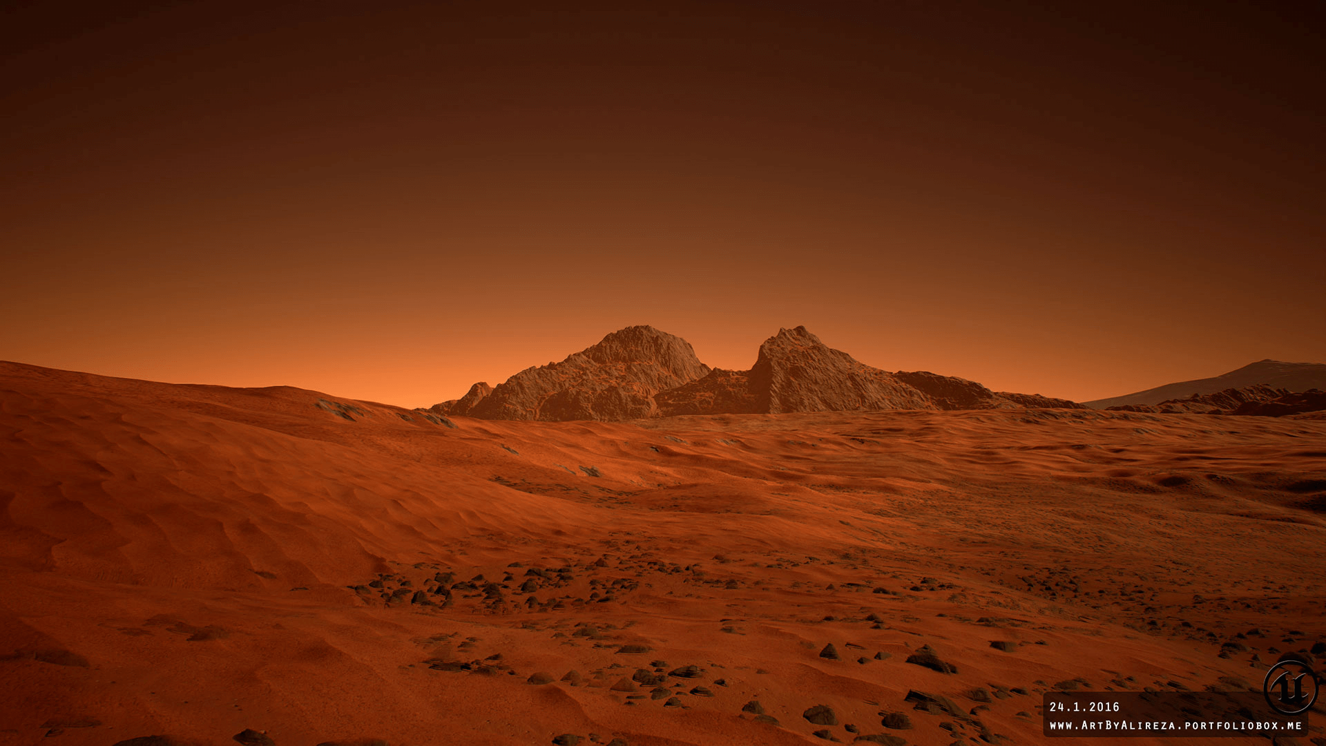 Mars landscape by pixel perfect polygons in environments for Landscape images