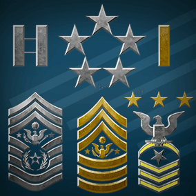This 2D Military Insignia set was designed for use in representing rank in a variety of armed forces. Based on real world ranking systems we have also included a set of separate components to create your own combinations. Sprites and materials included.