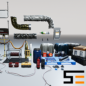 The second entry of the Modular SciFi Series' engineering collection. This product provides next gen, highly customizable props perfect for populating environments for scifi or even semi-futuristic projects set in an engineer-esque location. Customize