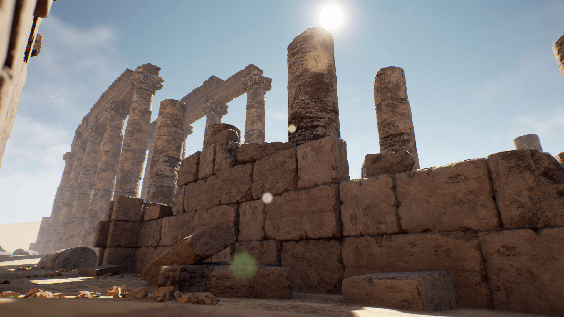 modular desert ruins by cgmontreal in environments ue4 marketplace