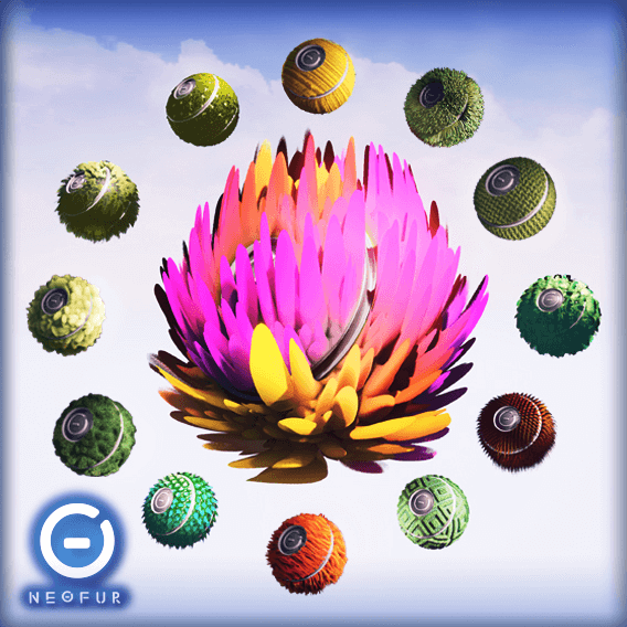 20 unique materials for all your plant needs! Easily editable, fully dynamic. NOTE: Requires NeoFur Plugin.
