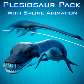 A Photo-realistic Plesiosaur which can be animated with highly customizable Blueprint Spline Animation System.