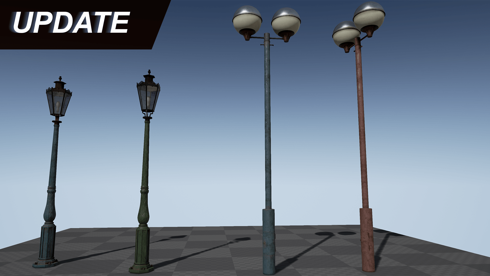 Old Streetlights Pack by Sipi1989 in Props - UE4 Marketplace for street lamp texture  570bof