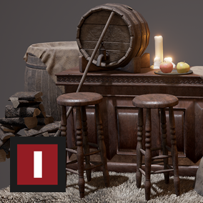 "A collection of triple­A assets for you to decorate a medieval tavern. ""Medieval Tavern"" is an addition to the ""Medieval Village"" pack."