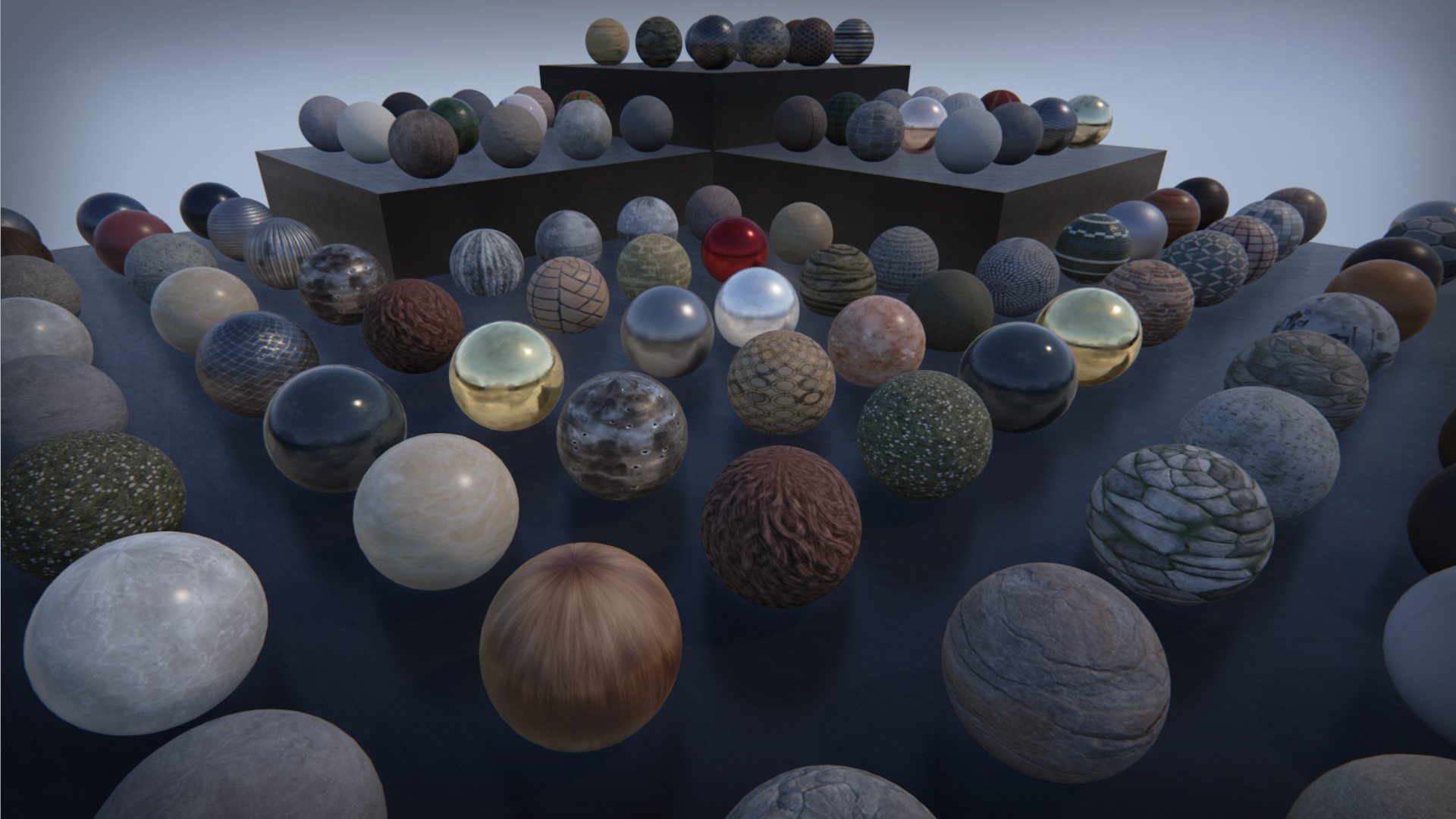 100 PBR Substances by Allegorithmic in Materials - UE4