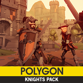Synty Studios Presents - POLYGON Knights Pack. A Fantasy themed asset pack.