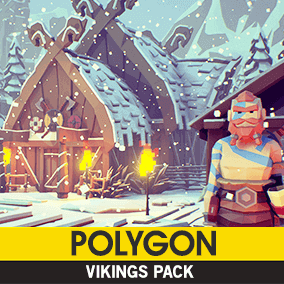 Synty Studios Presents - Polygon - Vikings Pack. A Fantasy themed asset pack.